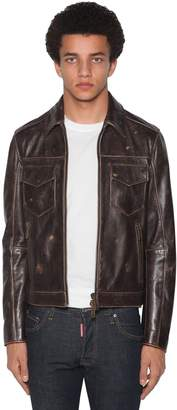 DSQUARED2 Zip-up Leather Biker Jacket