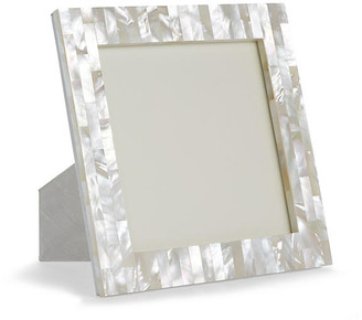 One Kings Lane Mother-of-Pearl Square Picture Frame - Natural
