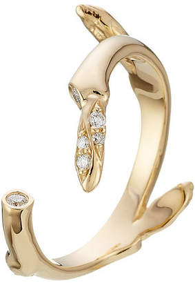 Sophie Bille Brahe Fleur Marriage 18kt Gold Ring with White Diamonds