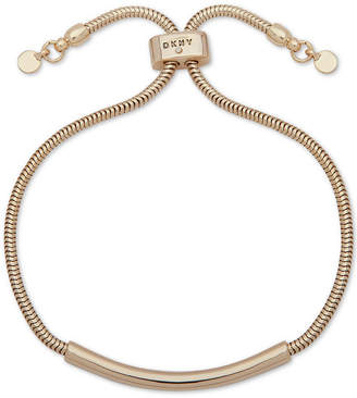 DKNY Gold-Tone Bar & Snake Chain Slider Bracelet