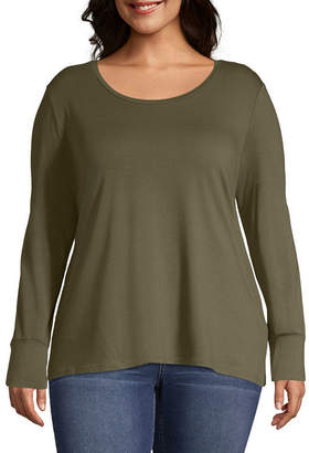 A.N.A Favorite Layering Tee-Womens Scoop Neck Long Sleeve T-Shirt
