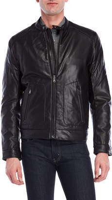 Michael Kors Faux Fur-Lined Faux Leather Jacket