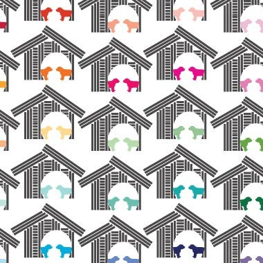 Avalisa Doghouse Stretched Print