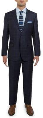 English Laundry Windowpane Wool Suit