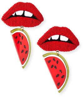 Mignonne Gavigan Zandra Lips/Watermelon Statement Earrings