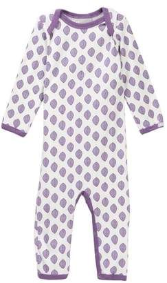 Coccoli Leaf Print Unionsuit (Baby Girls)