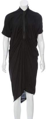Lanvin Zip-Accented Midi Dress