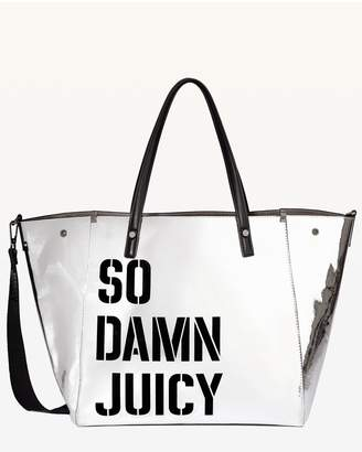 Juicy Couture JXJC Mirror Metallic Arlington Tote