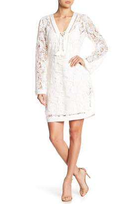 Hale Bob Long Sleeve Lace Dress
