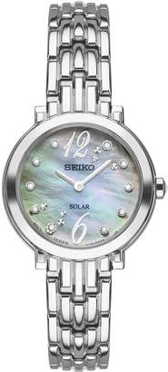 Seiko Women's Stainless Tressia Diamond Solar Bracelet Watch