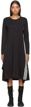 Y-3 Y 3 Black Signature Long Sleeve T-Shirt Dress