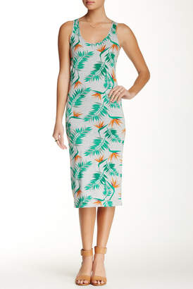 Alternative Print Racerback Midi Dress