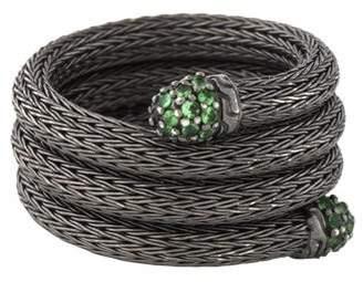 John Hardy Tsavorite Classic Chain Coil Ring