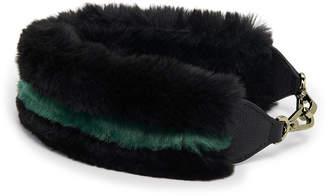 Henri Bendel Influencer Faux Fur Short Bag Strap