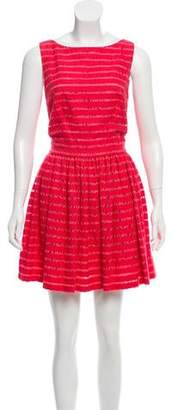 Thakoon Sleeveless Lace-Accented Dress