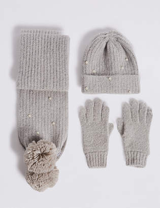648f0b315cbfe Marks and Spencer Kids  Hat   Scarf with Gloves Set