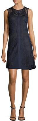 Roberto Cavalli Women's Sheer Panel A-Line Dress