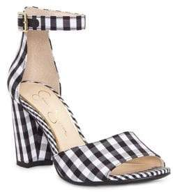 Jessica Simpson Sherron Checkered Ankle-Strap Sandals