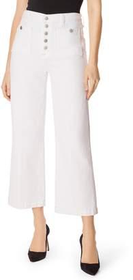 J Brand Joan Button Fly Crop Wide Leg Jeans