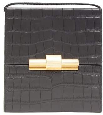 Bottega Veneta Daisey Crocodile Effect Leather Cross Body Bag - Womens - Black