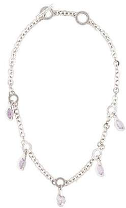 Pianegonda Amethyst Charm Link Necklace