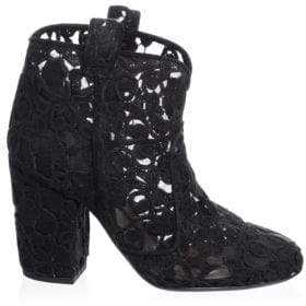 Laurence Dacade Floral Lace Booties