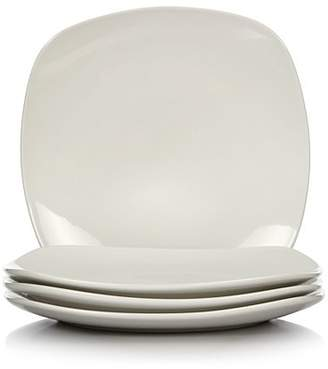 George Home White Square Dinner Plates - Set of 4