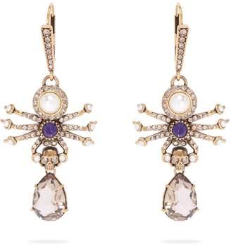 Alexander McQueen Spider drop earrings