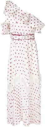 Self-Portrait polka dot one shoulder dress