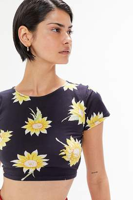 Motel Tindy Sunflower Cropped Tee