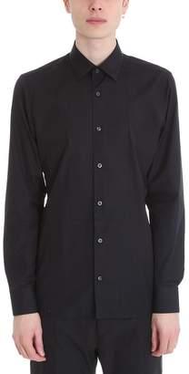 Ermenegildo Zegna Slim Black Cotton Shirt