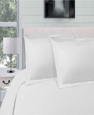 Superior Embroidered Soft, Light Weight, Microfiber, King/Cal King Size Duvet Cover Set, Solid White Bedding