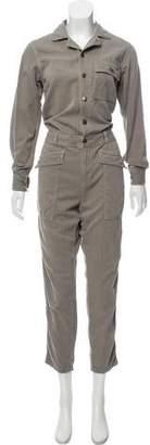 Current/Elliott Striped Long Sleeve Jumpsuit