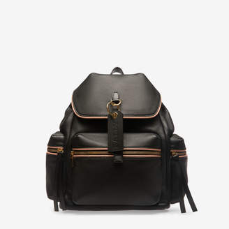 Bally Crew Black, Women's grained bovine leather backpack in black