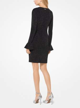 MICHAEL Michael Kors Metallic Stretch-Knit Bell-Cuff Dress