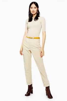 a58fa550 Topshop Womens Ecru Corduroy Mom Jeans