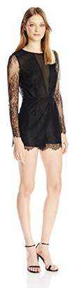 Dolce Vita Women's Eden Long Sleeve Lace Romper with Open Back