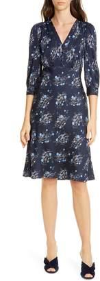 Nordstrom Signature Floral Stretch Silk Dress