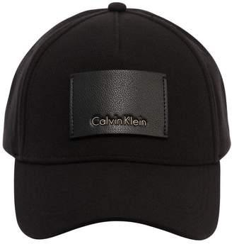Calvin Klein Piqué Baseball Hat W/ Leather Logo Patch
