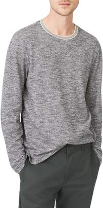Club Monaco Marled Cotton Crewneck Shirt