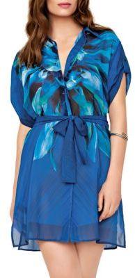 Gottex Floral Short Sleeve Shirtdress $198 thestylecure.com