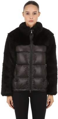Faux Fur & Nylon Down Jacket