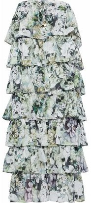 Nicholas Tiered Floral-Print Cotton And Silk-Blend Dress
