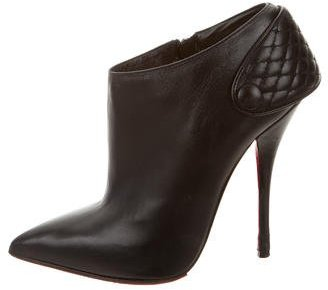 Christian Louboutin  Christian Louboutin Quilted Leather Booties