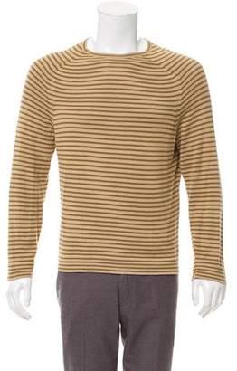 John Varvatos Striped Crew Neck Sweater