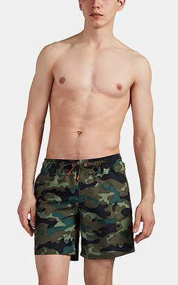 Sundek Men's Camouflage Swim Trunks - Dk. Green