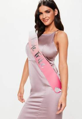 Missguided Iridescent Bride Tribe Sashes