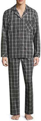 STAFFORD Stafford Mens Long Sleeve 2-pc Pant Pajama Set