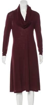 Lafayette 148 Wool Cowl Neck Dress