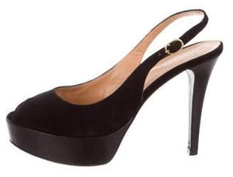 Barneys New York Barney's New York Platform Slingback Sandals